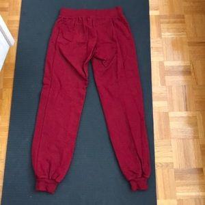 American Apparel Pants - American apparel burgundy joggers size XS